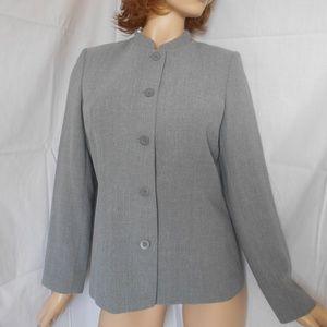 Nwt GEOFFREY BEENE Gray Career Jacket Blazer Sz 8